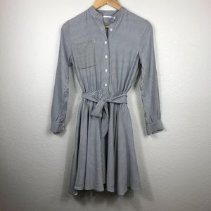 Beautiful Striped Button Up Dress!